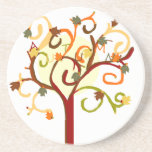 Práctico de costa del árbol del otoño posavasos para bebidas