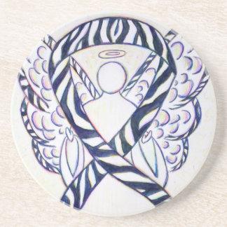 Práctico de costa del arte del ángel de la cinta posavasos de arenisca