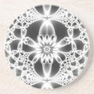 Práctico de costa del arte del fractal posavasos cerveza