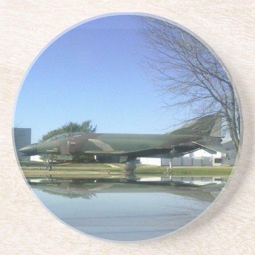 Práctico de costa del avión de combate (F4-Phantom Posavasos De Arenisca