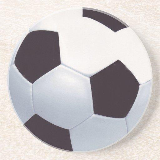 práctico de costa del balón de fútbol 3D Posavasos Manualidades