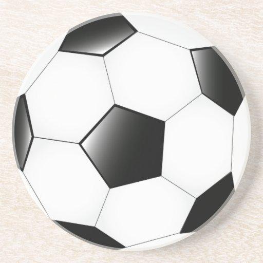Práctico de costa del balón de fútbol posavasos manualidades