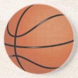 Práctico de costa del baloncesto posavasos personalizados