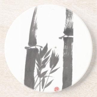 Práctico de costa del bambú negro posavasos manualidades