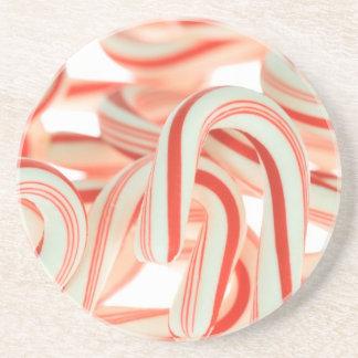 Práctico de costa del bastón de caramelo posavasos diseño