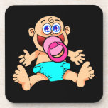 Práctico de costa del bebé posavasos