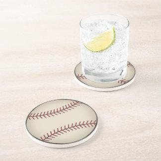 Práctico de costa del béisbol del vintage posavasos para bebidas