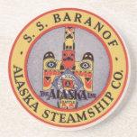 Práctico de costa del buque de vapor de Alaska Posavasos Personalizados