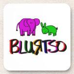 práctico de costa del burro y del elefante posavasos de bebida