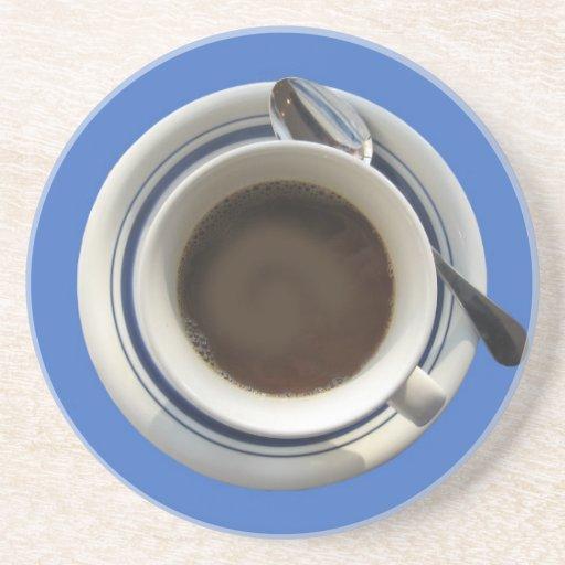Práctico de costa del café posavasos diseño