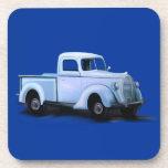 Práctico de costa del camión del vintage 1939 posavasos de bebida