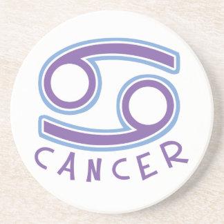 Práctico de costa del cáncer del zodiaco posavasos personalizados
