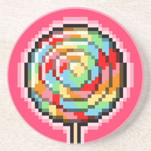 Práctico de costa del caramelo del Lollipop del ar Posavasos Para Bebidas
