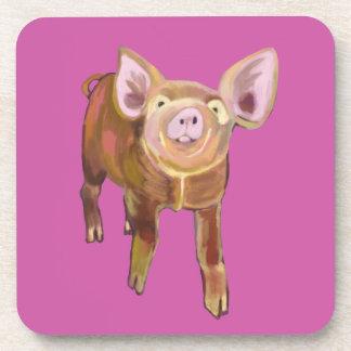 Práctico de costa del cerdo del pasto posavasos