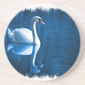 Práctico de costa del cisne mudo posavasos personalizados