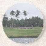 Práctico de costa del club de campo del golf posavaso para bebida