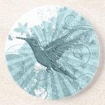 Práctico de costa del colibrí posavasos diseño