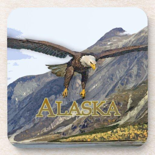 Práctico de costa del corcho de Alaska 3 Posavasos De Bebidas