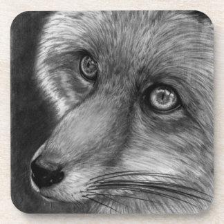 Práctico de costa del corcho de la cara del Fox Posavasos