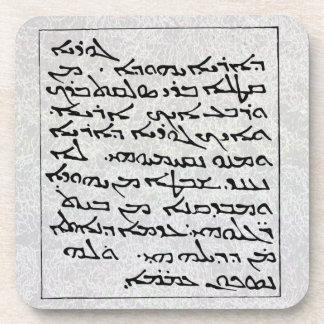 """Práctico de costa del corcho de la """"escritura feni posavasos"""