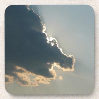 Práctico de costa del corcho de la nube del hipopó posavasos de bebida