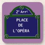 Práctico de costa del corcho de la ópera posavaso