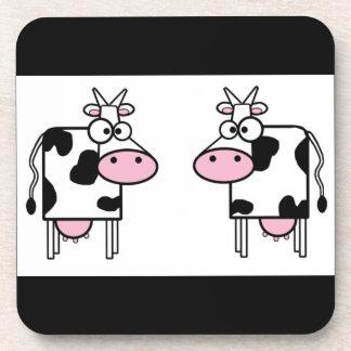 Práctico de costa del corcho de las vacas posavasos de bebidas