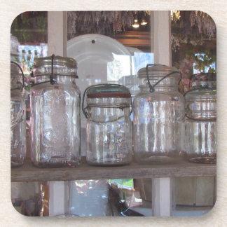 Práctico de costa del corcho de los tarros de alba posavasos de bebidas