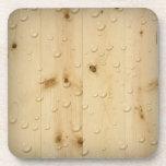Práctico de costa del corcho de madera de abedul posavaso