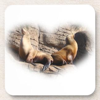 Práctico de costa del corcho del amor del león de  posavasos