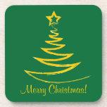 Práctico de costa del corcho del árbol de navidad  posavaso