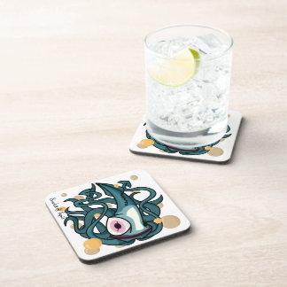 Práctico de costa del corcho del calamar del payas posavasos de bebida