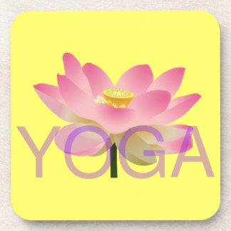 práctico de costa del corcho del loto de la yoga posavasos de bebida