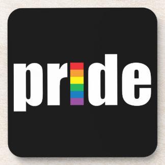 Práctico de costa del corcho del orgullo gay posavasos
