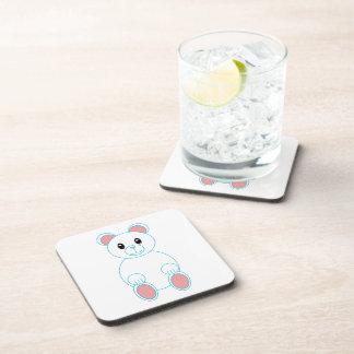 Práctico de costa del corcho del oso polar posavasos de bebidas