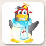 Práctico de costa del corcho del pingüino del giro posavaso