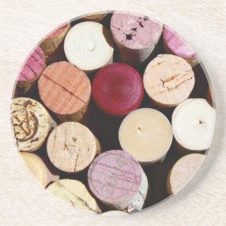 práctico de costa del corcho del vino posavasos diseño