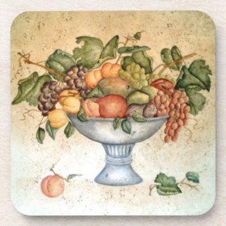 Práctico de costa del cuenco de fruta posavasos