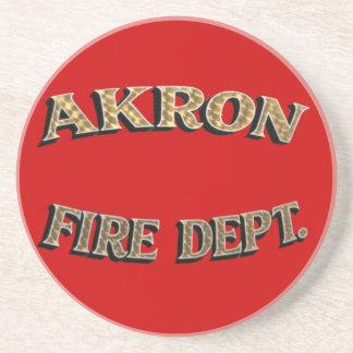 Práctico de costa del cuerpo de bomberos de Akron Posavasos Cerveza