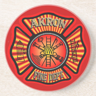 Práctico de costa del cuerpo de bomberos de Akron Posavasos Manualidades