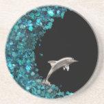Práctico de costa del delfín y de Paua Shell Posavasos Personalizados