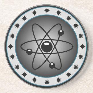 práctico de costa del diagrama del átomo posavasos para bebidas