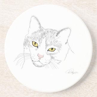 Práctico de costa del dibujo del gato posavasos manualidades