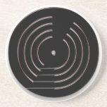 Práctico de costa del disco de vinilo posavasos manualidades