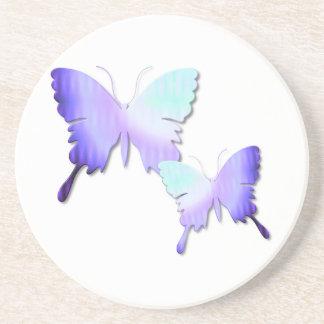 Práctico de costa del diseño de la mariposa posavaso para bebida
