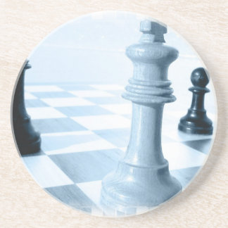 Práctico de costa del diseño del ajedrez posavasos para bebidas