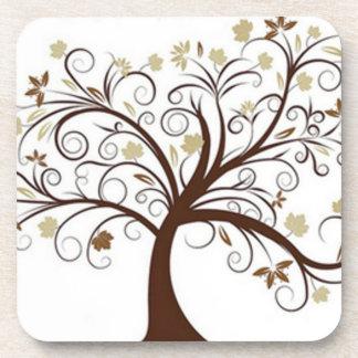 Práctico de costa del diseño del árbol posavasos de bebida