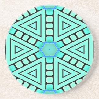 Práctico de costa del diseño geométrico del caleid posavasos de arenisca
