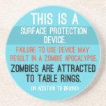 """Práctico de costa """"del dispositivo de protección s posavasos personalizados"""
