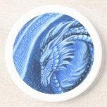 Práctico de costa del dragón del Aquamarine Posavasos Diseño